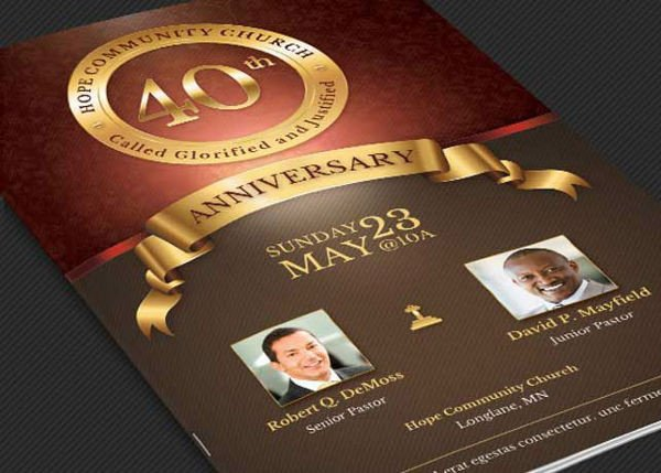 Church Anniversary Program Template 32 event Brochure Templates Ai Psd Google Docs Apple