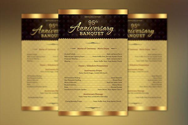 Church Anniversary Program Template Church Anniversary E Sheet Program Template On Behance