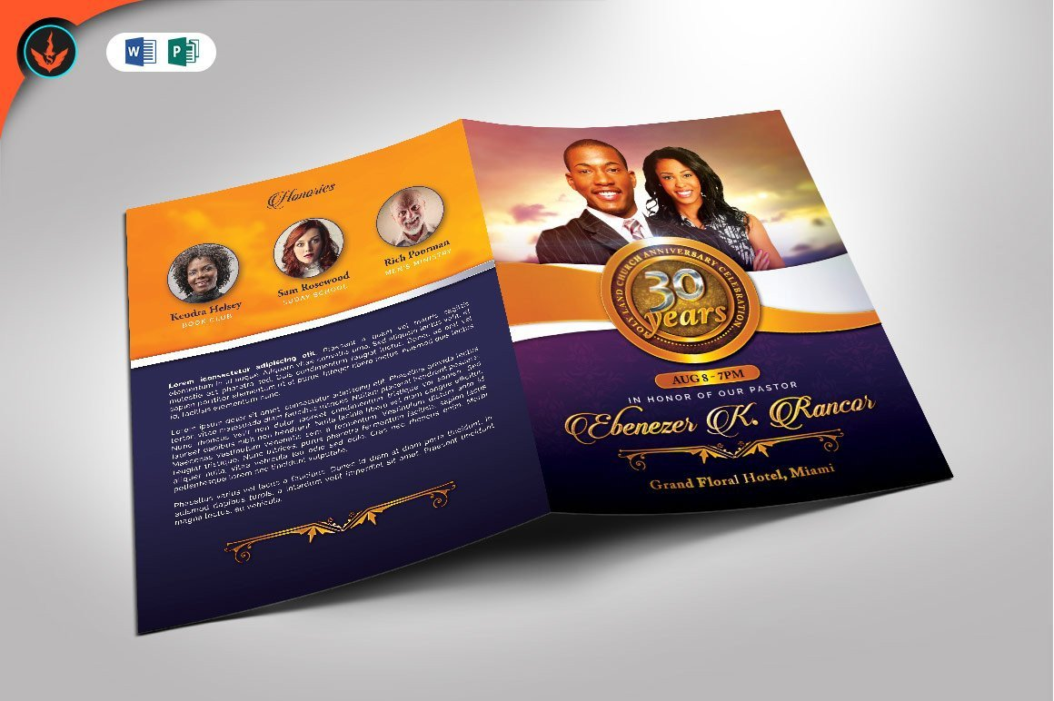 Church Anniversary Program Template Church Anniversary Program Template Brochure Templates