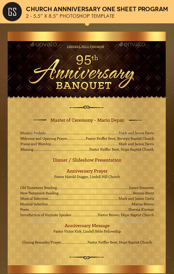Church Anniversary Program Template Free and Premium Brochure Templates to Showcase Your