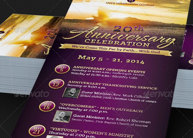 Church Anniversary Program Template Godserv Print Templates Shop