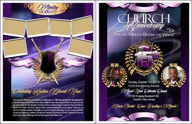 Church Anniversary Program Template Majesty Church Anniversary Program