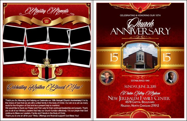 Church Anniversary Program Template Powerful Church Anniversary Program