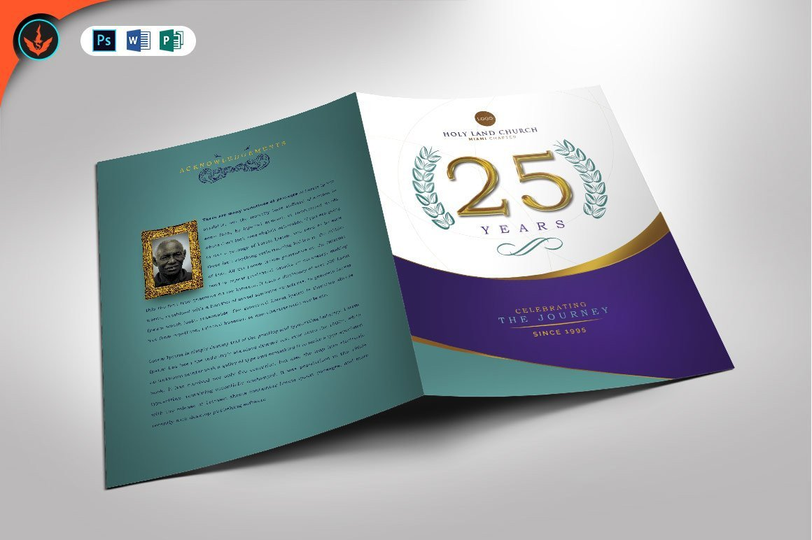 Church Anniversary Program Template Regal Church Anniversary Program Brochure Templates