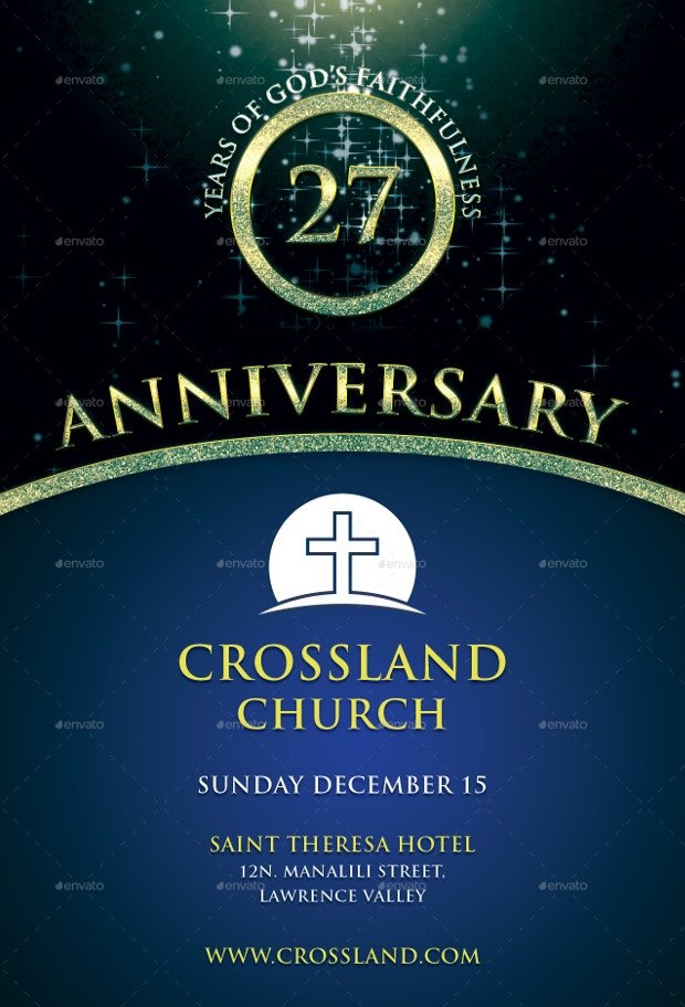 Church Anniversary Program Templates Free 18 Best Anniversary Flyer Psd Designs