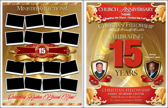Church Anniversary Program Templates Free Awesome Church Anniversary Program