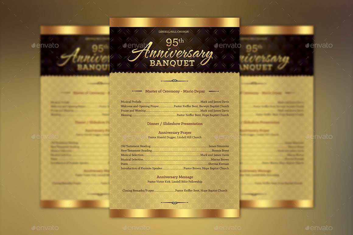 Church Anniversary Program Templates Free Church Anniversary E Sheet Program Template by Godserv