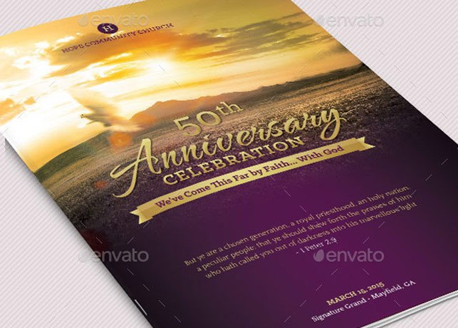 Church Anniversary Program Templates Free Church Anniversary Program