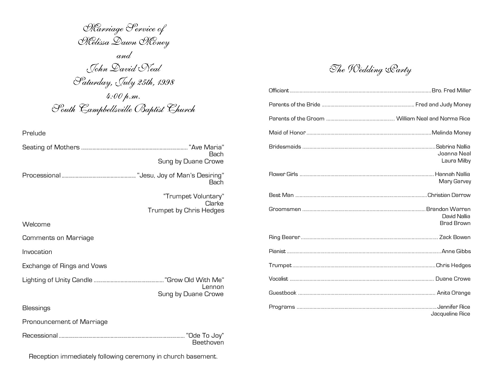 Church Anniversary Program Templates Free Church Program Template
