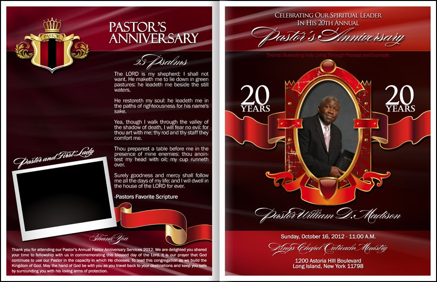 Church Anniversary Program Templates Free Powerful Pastor Anniversary Program