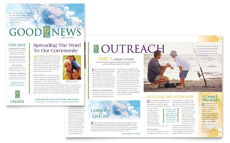 Church Bulletin Templates Microsoft Publisher Christian Church Newsletter Template Word & Publisher