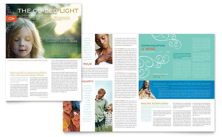 Church Bulletin Templates Microsoft Publisher Christian Church Religious Newsletter Template Word