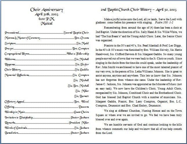 Church Bulletin Templates Word Church Bulletin Templates
