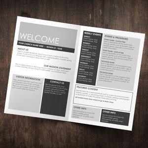 Church Bulletin Templates Word Church Bulletins Bulletin Printing Template