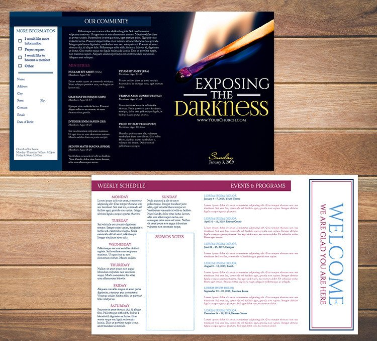 Church Bulletin Templates Word Free Church Bulletin Templates 8 Professionally Designed