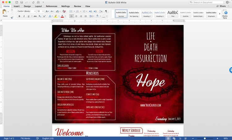 Church Bulletin Templates Word Free Church Bulletin Templates Customize In Microsoft Word