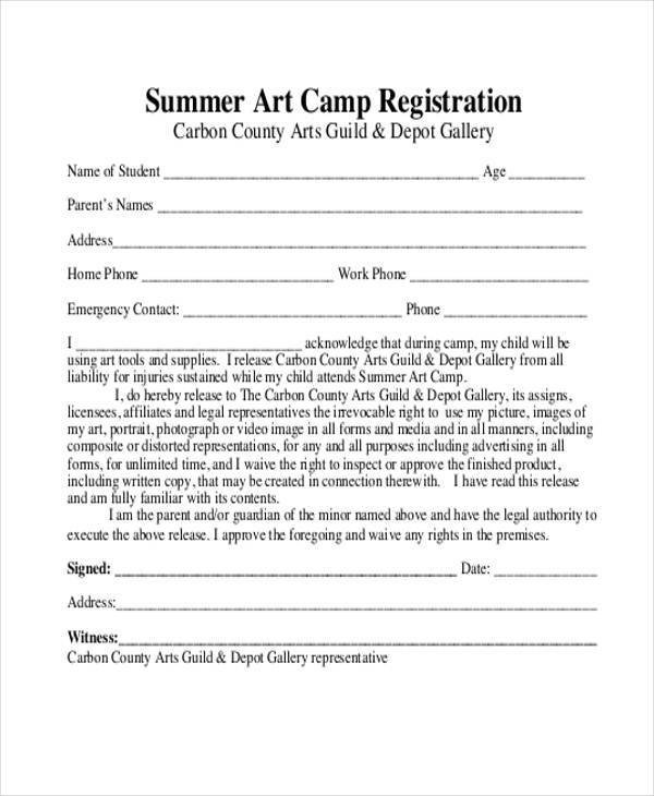 Church Camp Registration form Template 10 Summer Camp Registration form Samples Free Sample