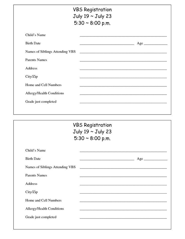 Church Camp Registration form Template 13 Best Church Day Camp Youth Revival Images On Pinterest