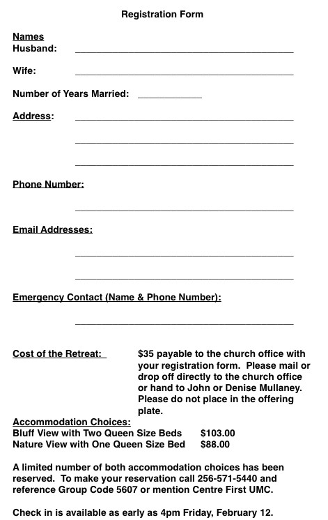 Church Camp Registration form Template Church Nursery Registration form thenurseries