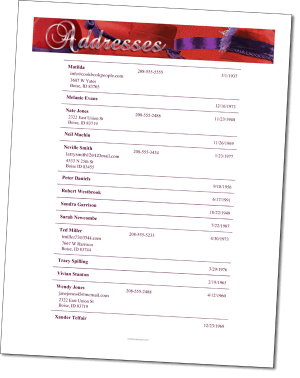 Church Directory Template with Photos 5 Church Directory Templates Excel Templates