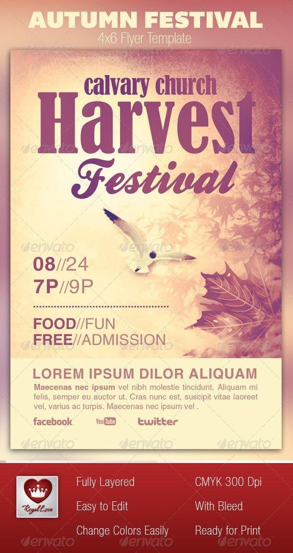 Church Flyer Templates Free Autumn Festival Church Flyer Template