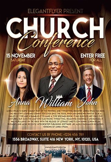 Church Flyer Templates Free Church Conference – Free Flyer Psd Template – by Elegantflyer