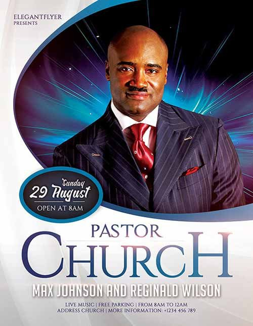 Church Flyer Templates Free Download the Pastors Church Free Flyer Template for Shop