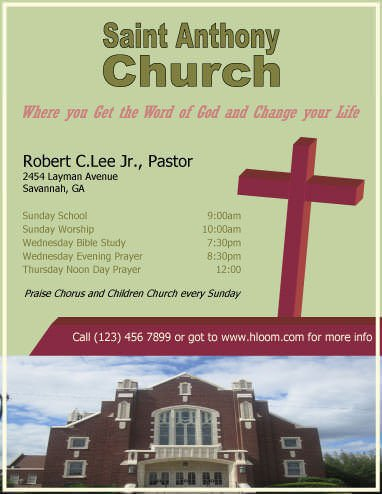 Church Flyers Templates Free Download 12 Free Flyers to Promote Church events [download]