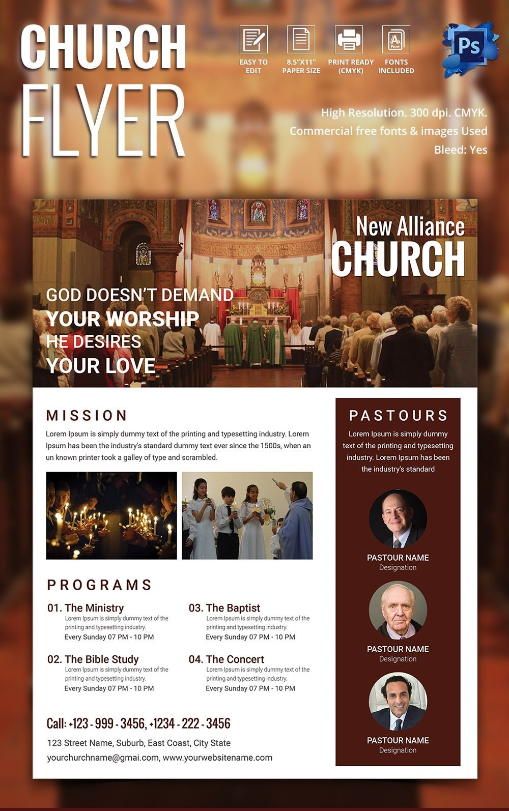 Church Flyers Templates Free Download 135 Psd Flyer Templates – Free Psd Eps Ai Indesign