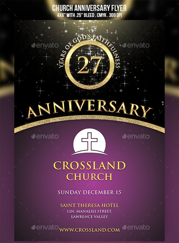 Church Flyers Templates Free Download 18 Best Anniversary Flyer Templates Psd Ai Indesign