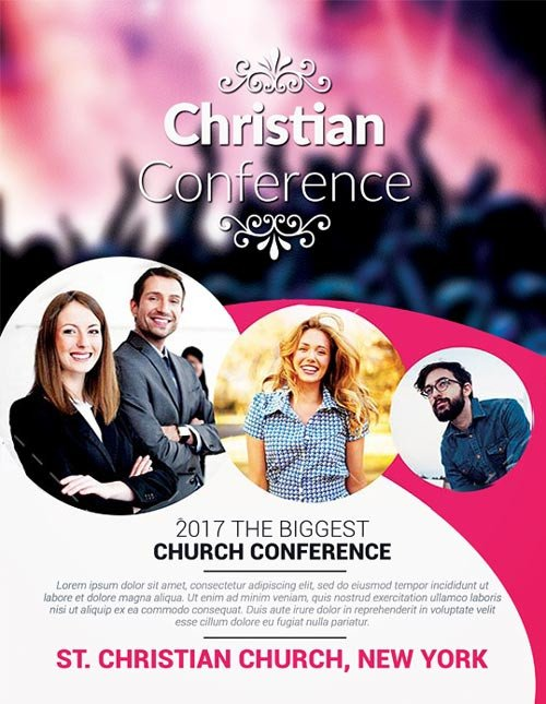 Church Flyers Templates Free Download Christian Conference Church Psd Flyer Template Download
