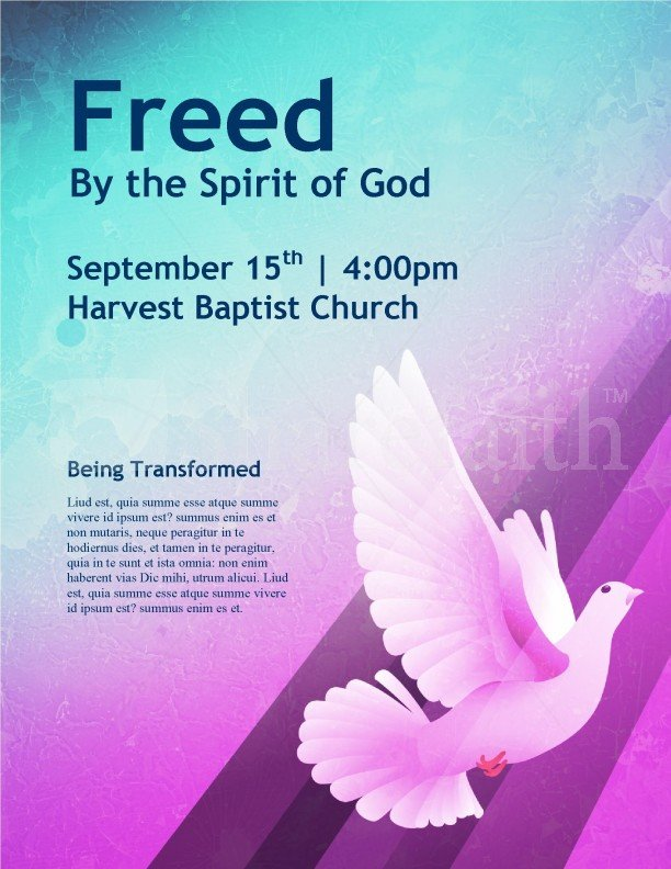 Church Flyers Templates Free Download Dove Church Flyer Template Template