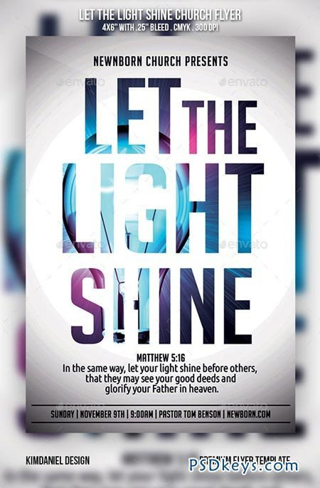 Church Flyers Templates Free Download Let the Light Shine Church Flyer Free Download