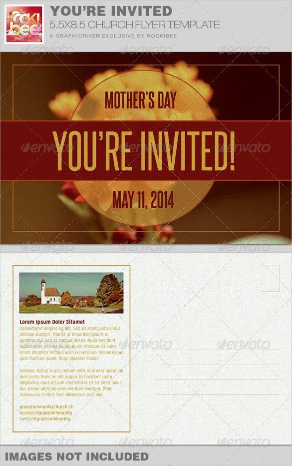 Church Invitation Cards Templates 20 Church Postcard Templates – Free Sample Example