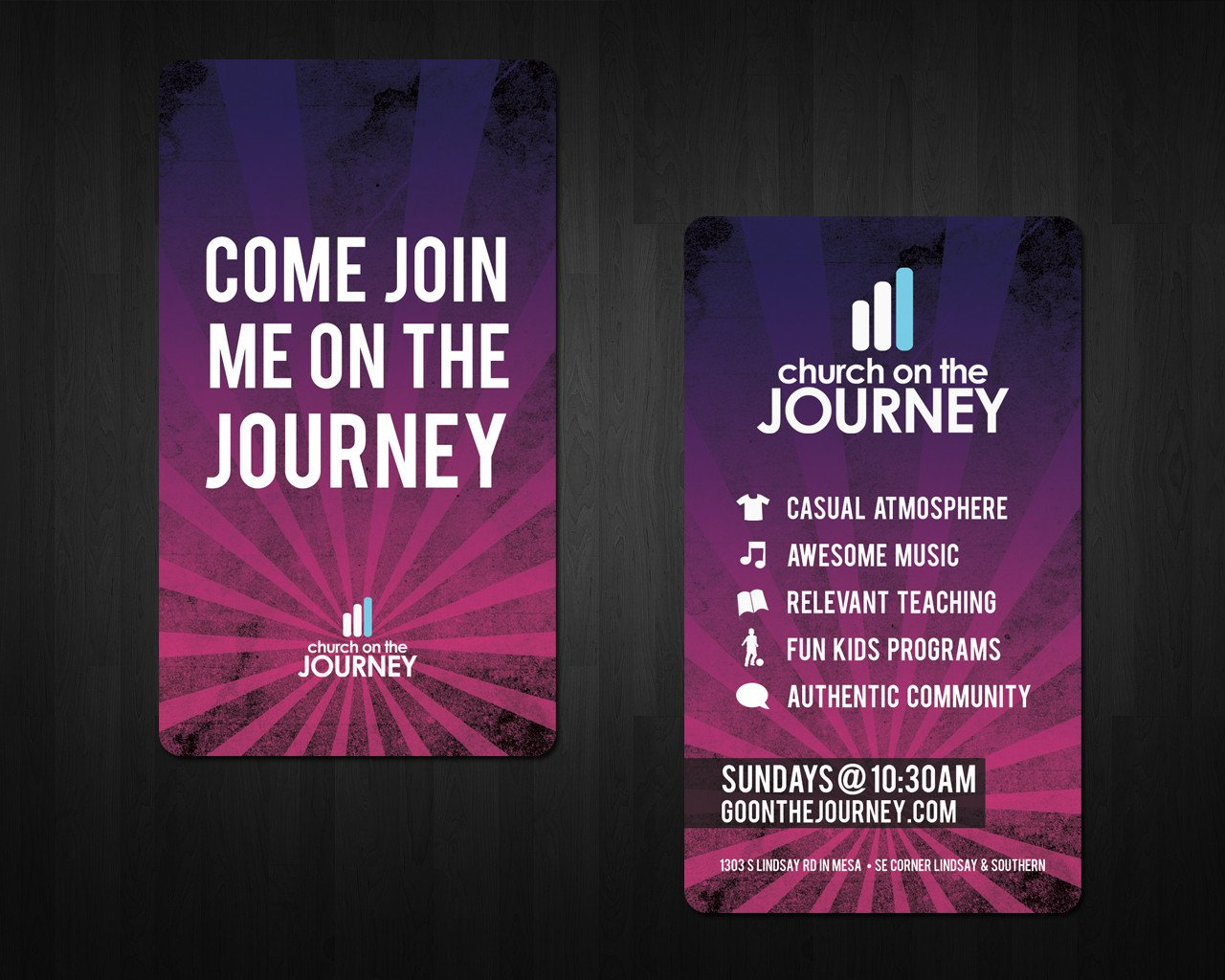 Church Invitation Cards Templates Church On the Journey Invite Cards