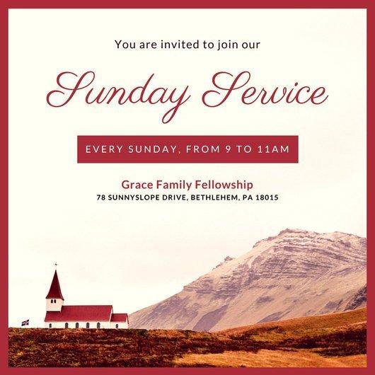 Church Invitation Cards Templates Customize 389 Church Invitation Templates Online Canva