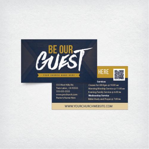 Church Invitation Cards Templates Mini Church Invite Card 3 5x2 Be Our Guest