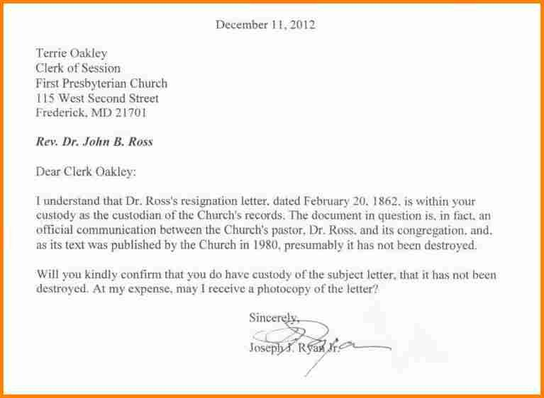 Church Membership Resignation Letter 11 Pastor Letter Of Resignation Sample