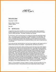 Church Membership Resignation Letter Example A Re Mendation Letter