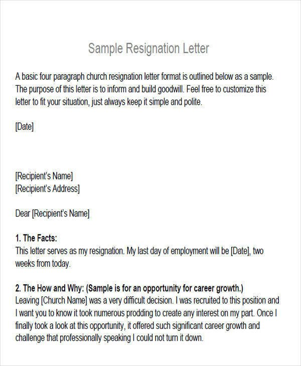 Church Membership Transfer Letter 6 Membership Resignation Letter Samples and Templates