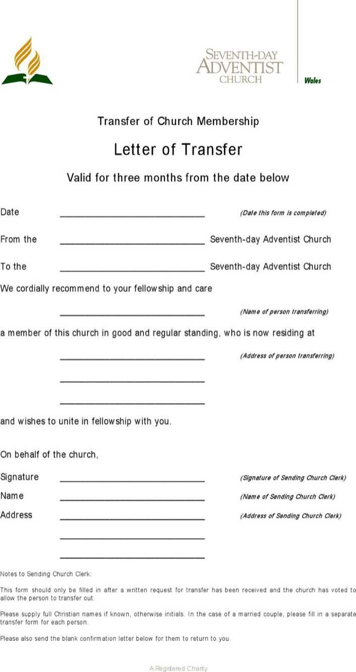 Church Membership Transfer Letter Download Download Sample Transfer Letter Church