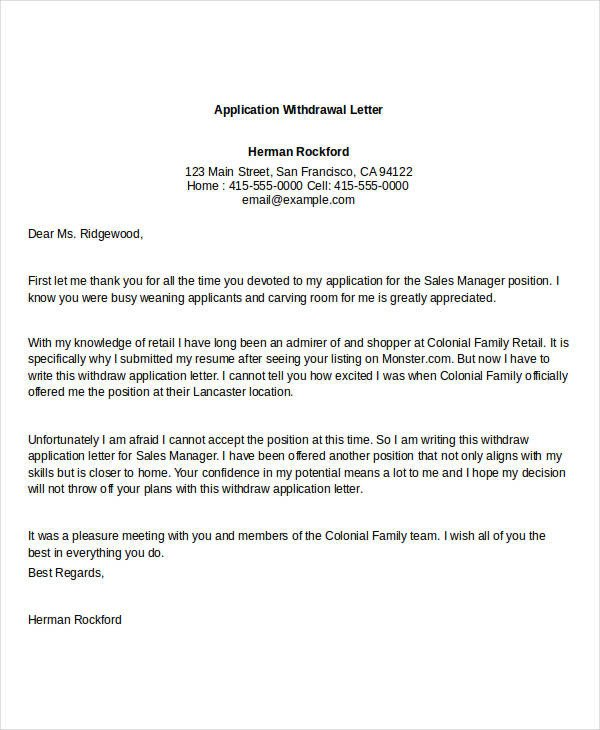 Church Membership withdrawal Letter 94 Best Free Application Letter Templates & Samples Pdf