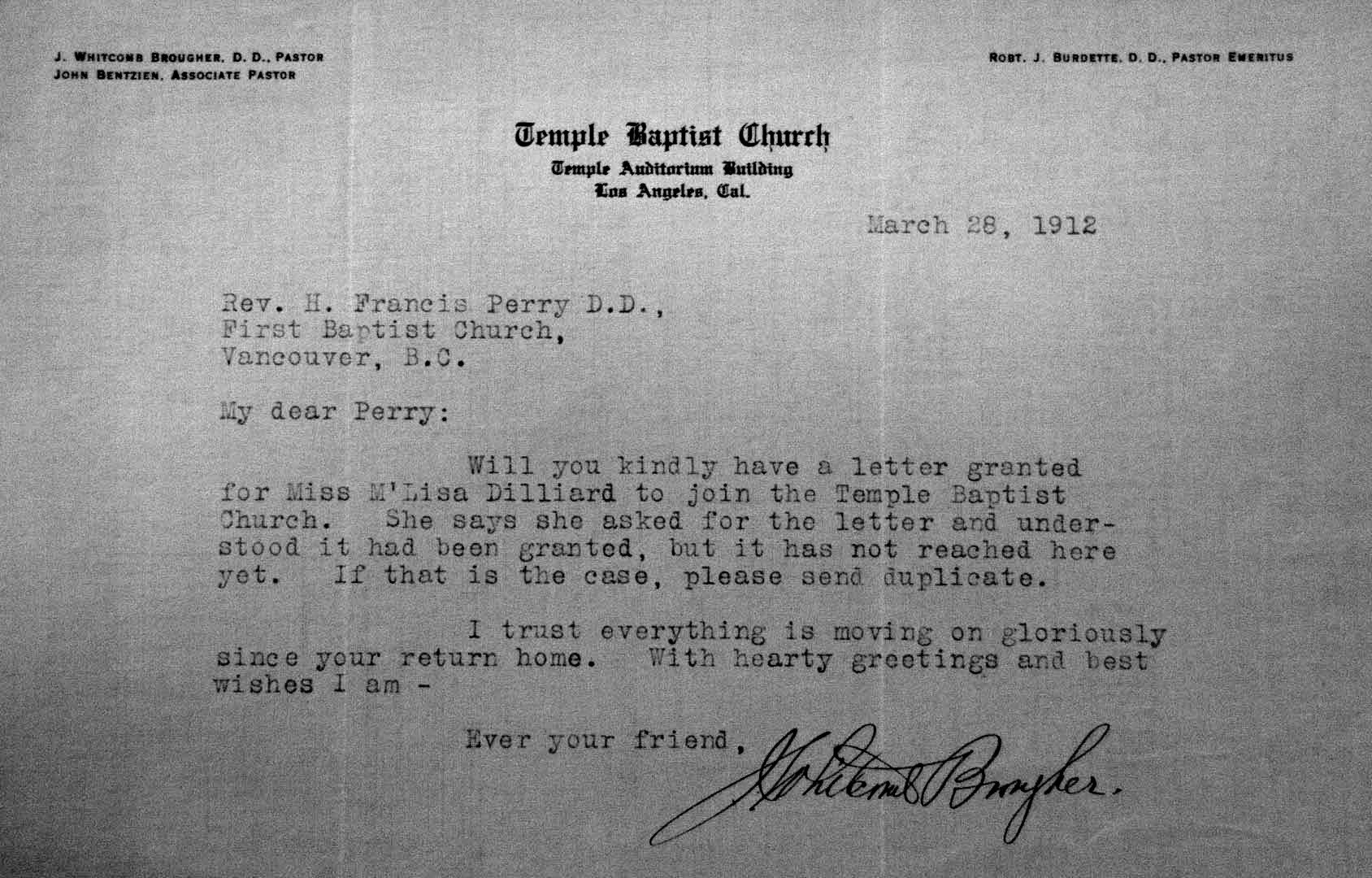 Church Membership withdrawal Letter Vancouver as It Was A Historical Journey