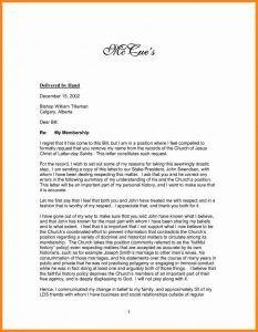 Church Resignation Letter Sample Church Re Mendation Letter for Member How to Write A