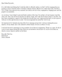 Church Resignation Letter Sample Sample Resignation Letters Letter Samples