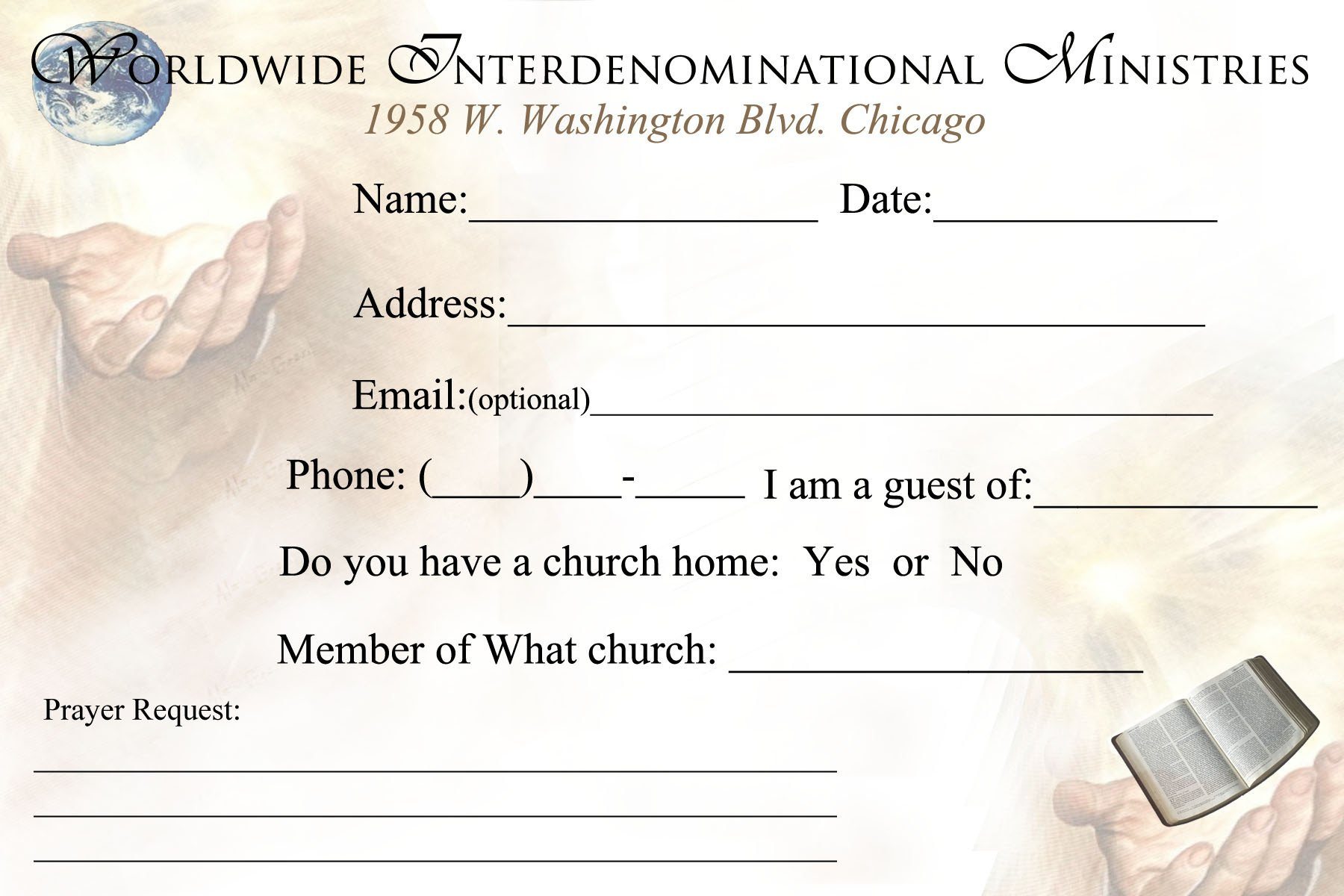 Church Visitor Card Template Word 301 Moved Permanently