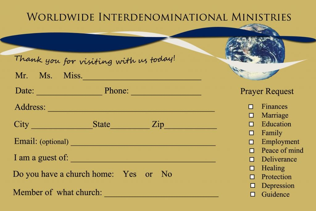 Church Visitor Card Template Word 8 Church Connection Card Templates