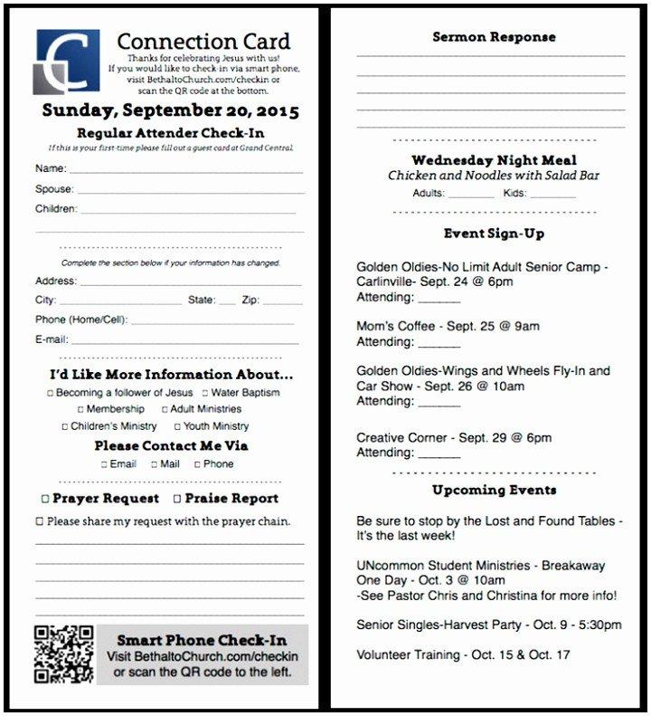 Church Visitor Card Template Word 9 Free Church Visitor Card Template Euyct