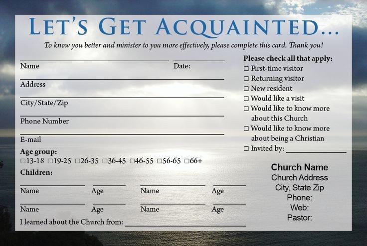 Church Visitor Card Template Word Best 25 Wel E Card Ideas On Pinterest