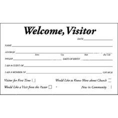 Church Visitor Card Template Word Modern Dove Wel E Visitor Postcard